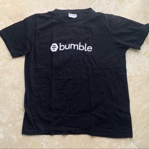 New Bumble black and white Tee Shirt Large